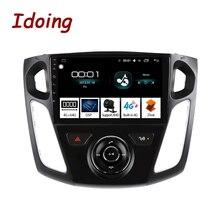 "Ido 9 ""سيارة أندرويد راديو مشغل وسائط متعددة لفورد فوكس 3 Mk 3 2011 2019 الملاحة لتحديد المواقع نافي 4G + 64G ثماني النواة No 2 din dvd"