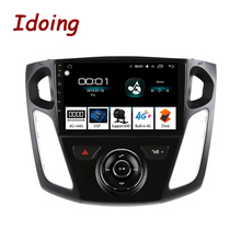 Idoing Radio Multimedia con GPS para coche, Radio con reproductor, Android, 9 pulgadas, navegador Navi, 4 GB + 64 GB, Octa Core, 2 din, dvd, para Ford Focus 3 Mk 3 2003 2012