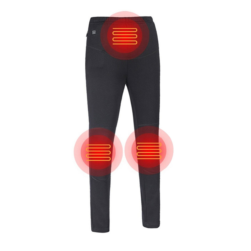 Electric Heated Pants Warm Winter Outdoor Ski Heating Trousers High Waist Leggings Slim Thickened USB Charging Heated Trousers