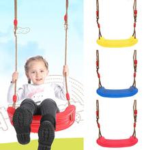 Rope Swing Hanging-Seat Outdoor Uv-Resistant Kids Toys Curved-Board Rainbow Adjustable