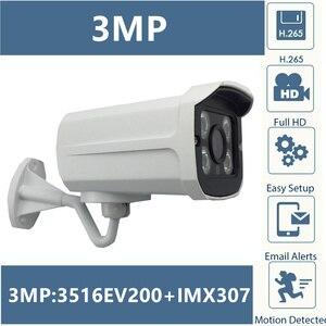 Image 1 - Sony IMX307 + 3516EV200 IP מתכת Bullet מצלמה 3MP 2304*1296 חיצוני H.265 נמוך תאורה IP66 עמיד למים CMS XMEYE ONVIF P2P