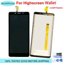 """For highscreen wallet LCD Display+Touch Screen 100% Original Tested LCD Digitizer Glass Panel Replacement 5.5""""  Cell Phone"""