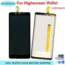 """Highscreen cüzdan LCD ekran + dokunmatik ekran 100% orijinal test LCD sayısallaştırıcı cam Panel değiştirme 5.5 """"cep telefonu"""