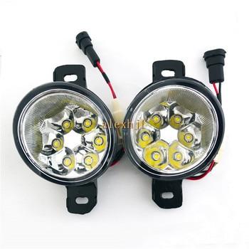 July King 18W 6LEDs H11 LED Fog Lamp Assembly Case for Nissan Platina 2002-2010 Mexico,  6500K 1260LM LED Daytime Running Lights