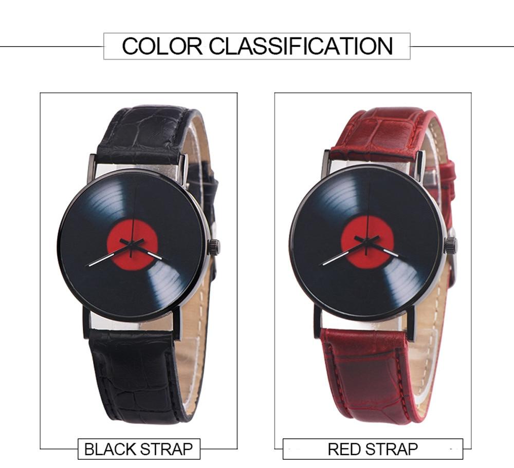H346919cbf3454af3aeb8274c1e1fda8dL 2020 Fasion Men's Watch Neutral Watch Retro Design Brand Analog Vinyl Record Men Women Quartz Alloy Watch Gift Female Clock NEW