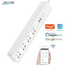 Wifi Smart Power Strip Защита от перенапряжения 4 способа AU электрическая вилка австралийские розетки удлинитель пульт дистанционного управления Alexa Google Home