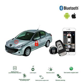 Control Bluetooth coche sin llave entrada coche alarma apertura automática del maletero bloqueo central señalización boton inicio parada arranque remoto