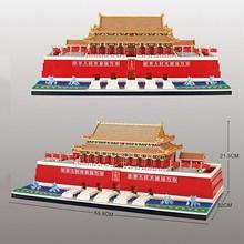Chinese architecture Tiananmen Square model building blocks micro