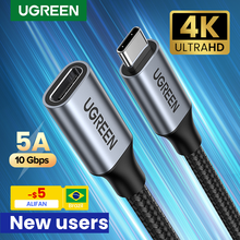 Ugreen cavo di prolunga USB C tipo C cavo di prolunga USB-C Thunderbolt 3 per Xiaomi Nintendo Switch cavo di prolunga USB 3.1