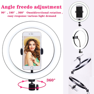Image 3 - 10 Inch Led Ring Light Live Broadcast Photography Ringlight Lamp Hight Light with 110CM Tripod Stand for Photo Youtube Studio