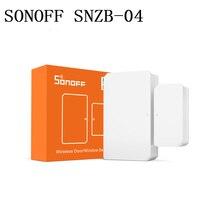 Sonoff SNZB 04 sensor de porta/janela sem fio zigbee permite ligação inteligente entre a ponte zigbee e os dispositivos wifi através do aplicativo ewelink