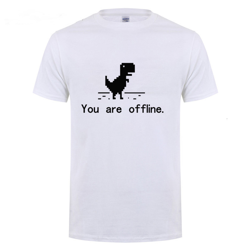 Midnite Star You Are Offline <font><b>Error</b></font> <font><b>404</b></font> Page Computer Dinosaur T <font><b>Shirt</b></font> Funny Birthday Gift For Men Programmer Cotton T-<font><b>Shirt</b></font> image