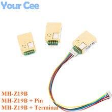 MH Z19 MH Z19B NDIR אינפרא אדום CO2 חיישן מודול אינפרא אדום עבור פחמן דו חמצני co2 צג גז חיישן 0 5000ppm LART PWM MH Z19B