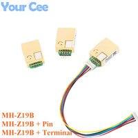 MH-Z19 MH-Z19B NDIR Infrarot CO2 Sensor Modul Infrarot für Kohlendioxid co2 Monitor Gas Sensor 0-5000ppm LART PWM MH Z19B