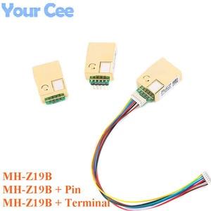 Image 1 - MH Z19 MH Z19B NDIR kızılötesi CO2 sensörü modülü kızılötesi karbon dioksit co2 monitör gaz sensörü 0 5000ppm LART PWM MH Z19B