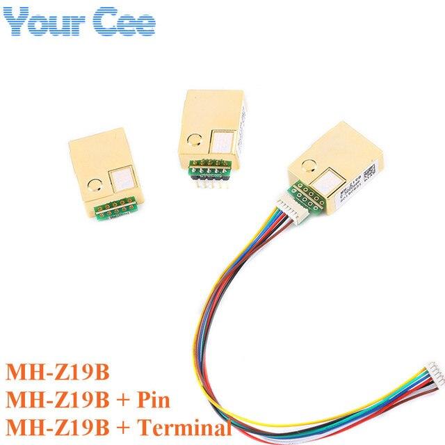 MH Z19 MH Z19B NDIR kızılötesi CO2 sensörü modülü kızılötesi karbon dioksit co2 monitör gaz sensörü 0 5000ppm LART PWM MH Z19B