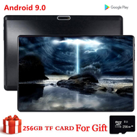 CARBAYTA 10.1 Inch Tablet 256GB TF Card PC Global Bluetooth Wifi Phablet Android 9.0 Core Dual SIM Card 2.5D Tablet CE Band 32GB