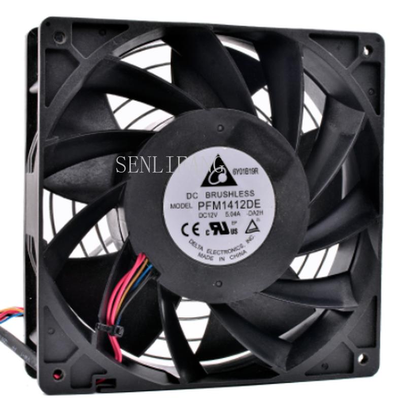 Free Shipping Original PFM1412DE 14cm 14038 140x140x38mm DC12V 5.04A Server Cooler Large Air Volume Supercharged Cooling Fan