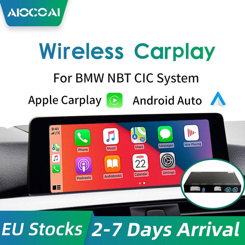 Беспроводной CarPlay Android авто для BMW F20 F21 F22 F23 F30 F31 F32 F33 F34 F36 F01F56 NBT CIC система Mirrorlink совместима с IOS