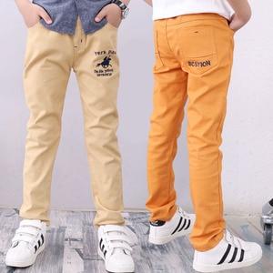 Image 3 - 4 12T Dei Ragazzi Dei Pantaloni Casual Solido 100% Cotone Dritto Pantaloni per I Ragazzi Bianco Ragazzo Dei Bambini Pantaloni 110  150 di Alta Qualità
