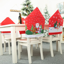 2020 New 1PC Christmas Chair Covers Santa Claus Snowman Red Cap Dining Seat Santa Claus Home Decoration Party Supplies(China)