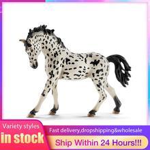 Pvcシミュレーションpaard動物モデル馬5インチデンマークknabstrupper牝馬フィギュアファーム動物のおもちゃ妖精の庭の装飾