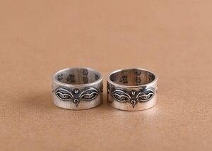 Image 5 - Handgemaakte 925 Zilveren Tibetaanse Wijsheid Ogen Ring Boeddhistische Hemel Ogen Ring Buddha Ogen Ring Resizable