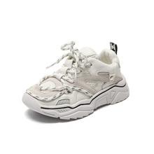 Детская обувь; Новинка 2020 года; Спортивная обувь для маленьких мальчиков и девочек; Светоотражающие шнурки; Дышащие уличные теннисные модные детские кроссовки