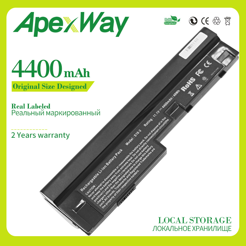 Apexway Laptop Battery For Lenovo IdeaPad S10-3 S205 <font><b>U160</b></font> U165 57Y6442 L09C3Z14 L09M6Y14 L09M6Z14 L09S3Z14 L09C6Y14 L09M3Z14 image