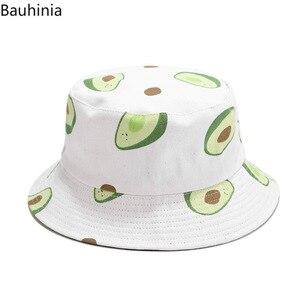 Panama fruits avocat impression seau chapeau pour hommes femmes pêcheur chapeau deux côtés réversible Bob chapeau été chapeau de soleil