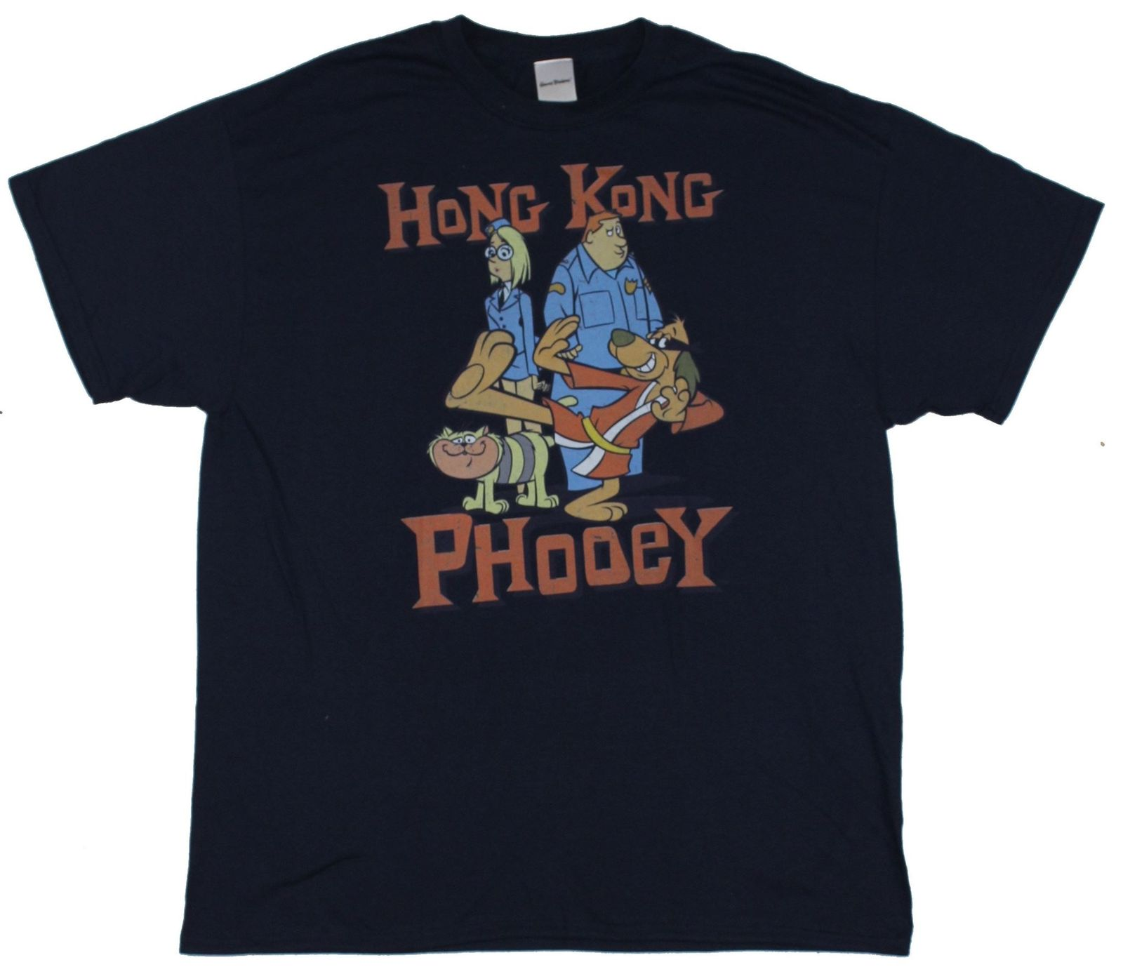<font><b>Hong</b></font> <font><b>Kong</b></font> Phooey Mens T-Shirt - Distressed Karate Cast Image Cartoon t shirt men Unisex New Fashion <font><b>tshirt</b></font> free shipping funny image