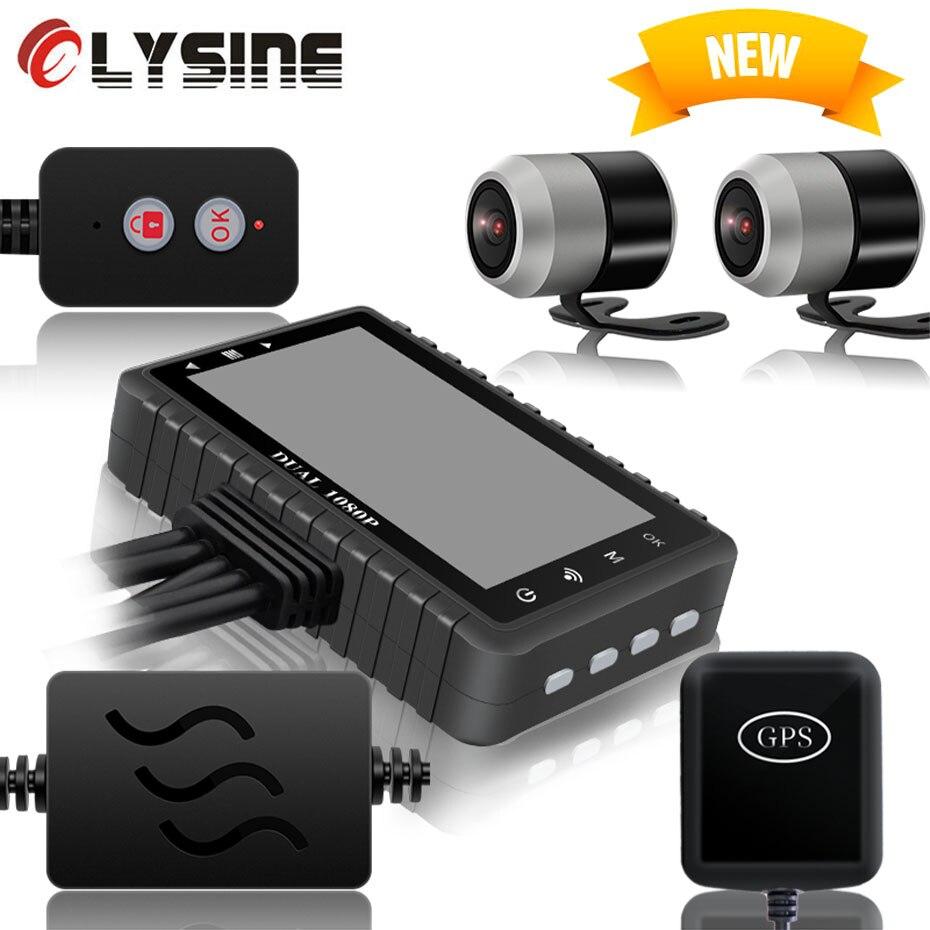 GPS Wifi NTK96660 Dash Cam moto DVR enregistreur vidéo lecteur vélo enregistreur double lentille 1080P Sony caméra capteur étanche