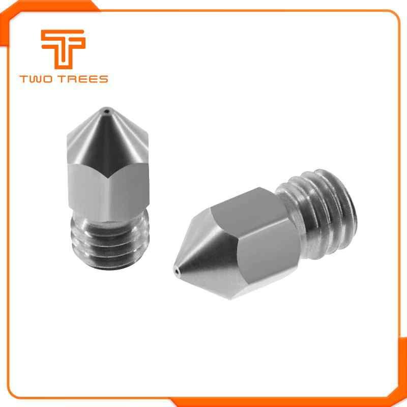 10 Buah/Banyak MK8 Nozzle 0.2 Mm 0.3 Mm 0.4 Mm 0.5 Mm 0.6 Mm M6 Ulir Stainless Steel untuk Ender 3 3D Printer Extruder Print