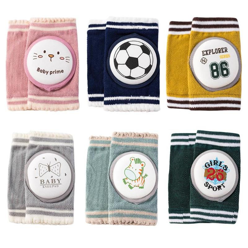 Baby Kneepads Cartoon Safety Cotton Flexible Crawling Protector Toddler Kneecaps Suitable Age 0-3 Years Old Four Seasons