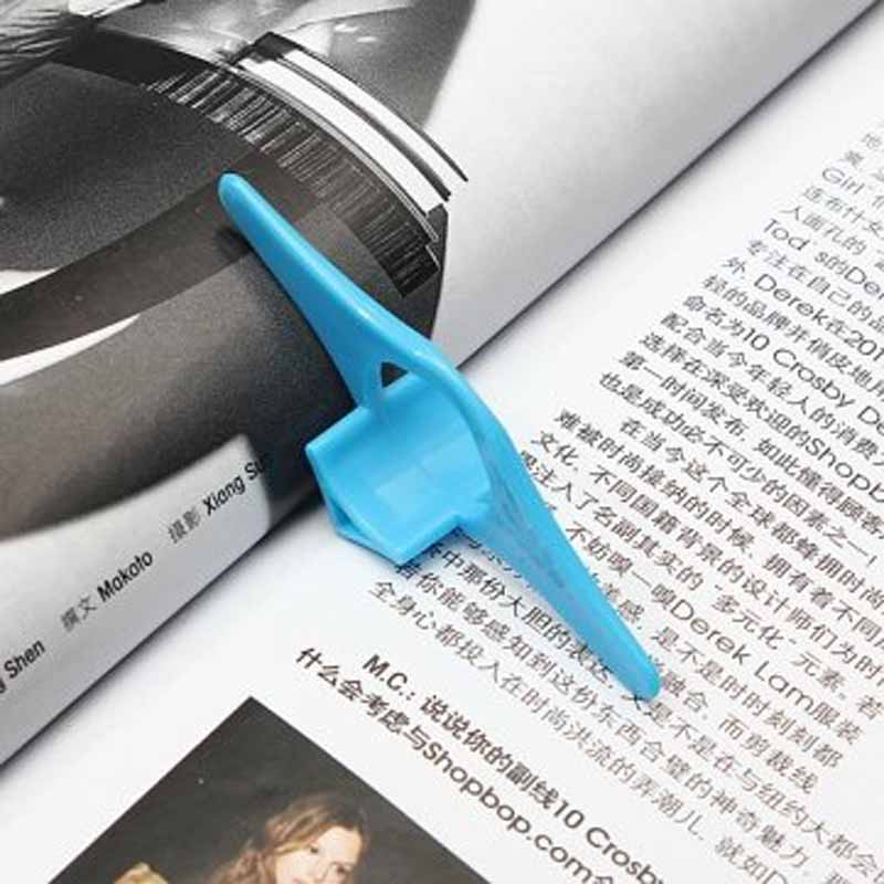 Multifunction Thumb Book Page Holder Marker Finger Ring Bookmark Plastic Convenient Reading Helper Book Mark  DQ-Drop