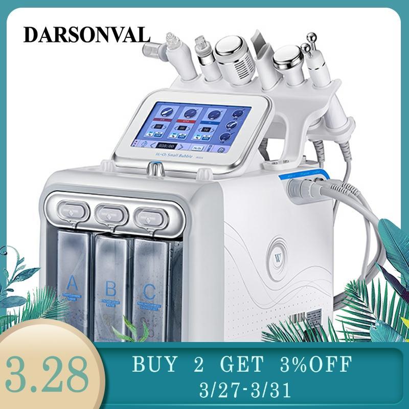 DARSONVAL Hydra Facial Galvanic Spa 6 In 1 Microdermal Small Bubbles Skin Care Device Oxygen Meter Ultrasonic Aesthetic Machine