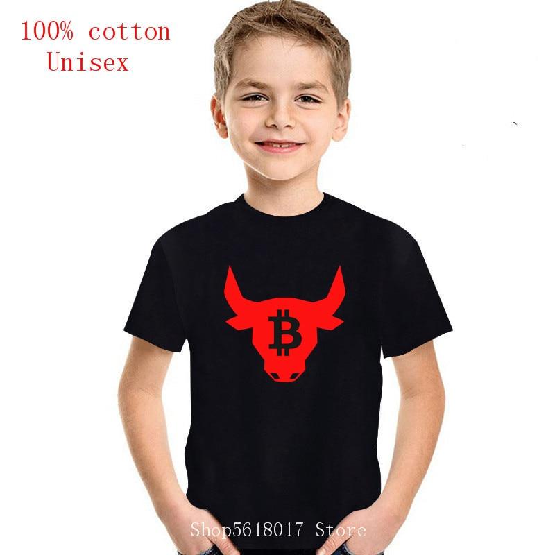 2021Hot Sale Summer Bitcoin Bulls black children T-shirt Short sleeve T shirt kids o-neck Kids tshirt 1