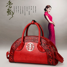 New fashion graceful Vintage embossed leather ladies shoulder bag high quality large tote luxury ethnic style crossbody
