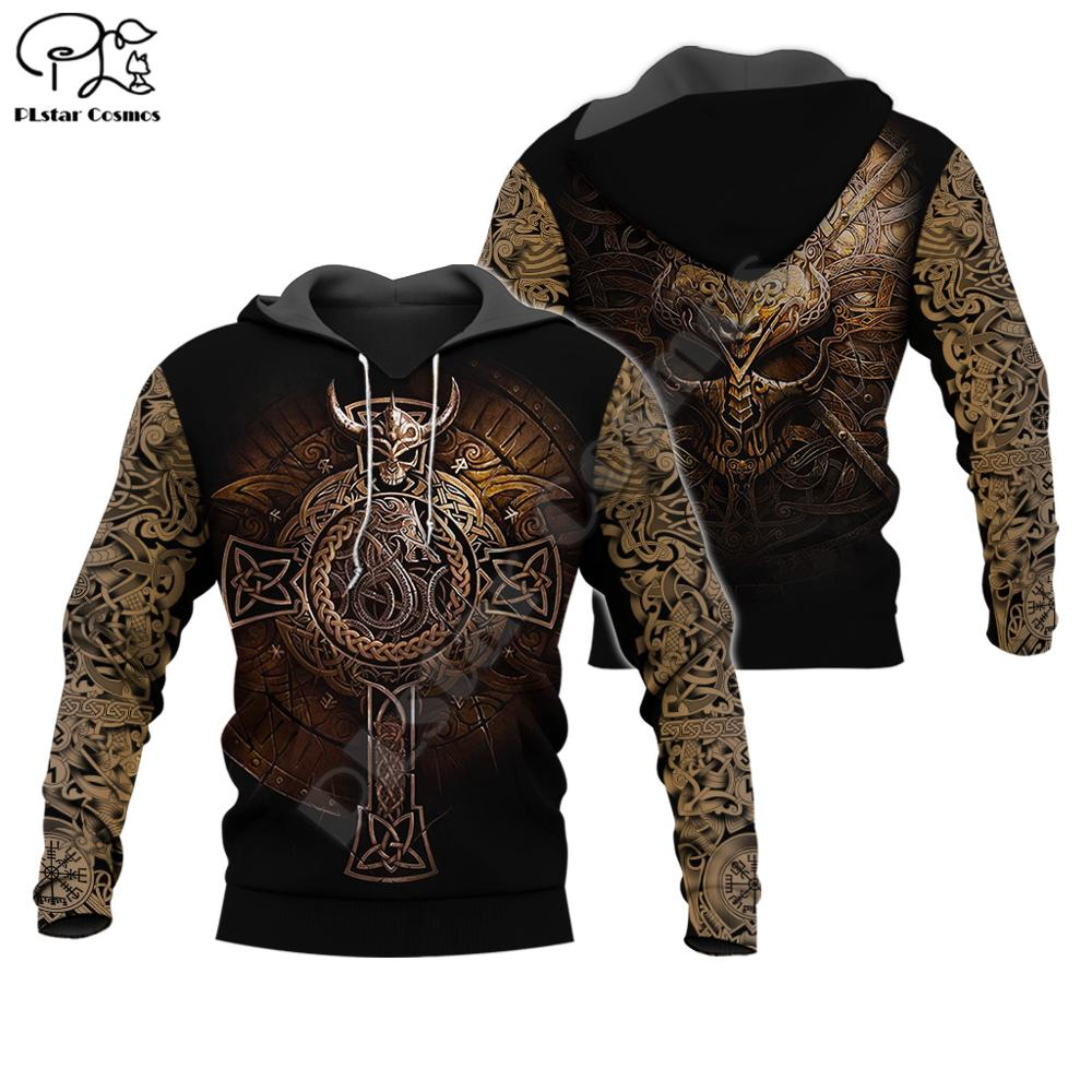 PLstar Cosmos Viking Warriors Tattoo NewFashion Tracksuit Casual Pullover 3DPrint Zipper/Hoodie/Sweatshirt/Jacket/Men Women S-15