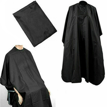 Salon Barber Cloth Wrap Black Hairdressing Cape Hair-Cut Protect Gown Apron Waterproof Cutting Gown Hair Cloth Wrap Hairdresser image
