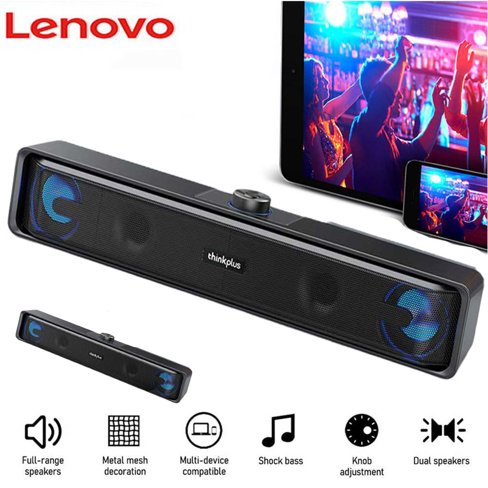 TS32 Wireless Bluetooth Speaker USB Powered Wired Computer Sound Bar Mini Soundbar Speaker Subwoofer For PC Tablet Cell Phone