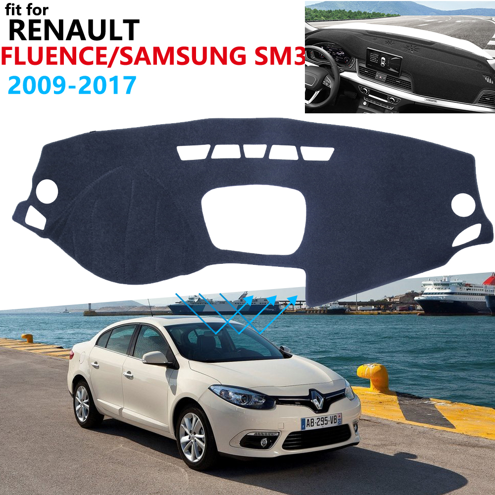 Dashboard Cover Protective Pad for Renault Fluence 2009 2017 Samsung SM3 Car Accessories Dash Board Sunshade Carpet 2015 2016
