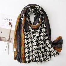 Женский Длинный шарф из хлопка и льна осенне зимний длинный