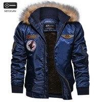 MITEKSAN Brand Winter Inner Fleece Warm Outdoor Jacket Sport Coat Fashion Men Loose Parka Windproof coat European Size S 2XL