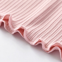 Kids Girls Blouse Sweet Ribbon Flare Sleeve Outwear