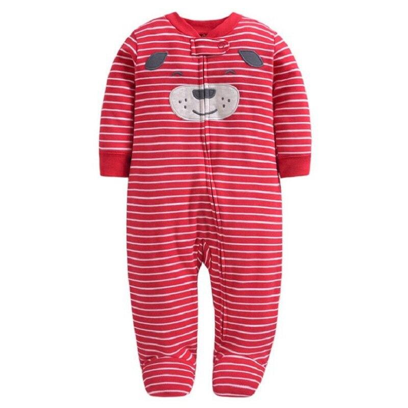 Комбинезон для маленьких девочек с рисунком единорога; зимняя одежда для новорожденных мальчиков с длинными рукавами; 0-12 месяцев; с круглым вырезом; на молнии; - Цвет: 11