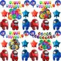 1 комплект Amonged Crewmate Impostor шар игровой мир с днем рождения вечерние украшения красного и синего цвета Мультяшные игрушки в виде героев для дет...