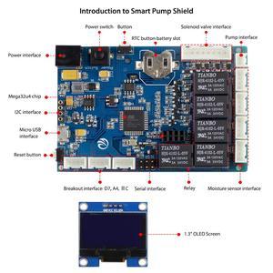 Image 5 - Elecrow Kit automático de agua para plantas Sensor de humedad de suelo Arduino, bricolaje, autoriego, Kit inteligente de agua para plantas