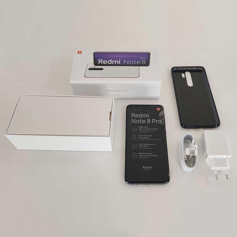 الإصدار العالمي من هاتف شاومي ريدمي نوت 8 برو بذاكرة وصول عشوائي 6 جيجابايت وذاكرة قراءة فقط 64 جيجابايت وذاكرة قراءة فقط 128 جيجابايت وخاصية NFC مع معالج هيليو G90T وكاميرا رباعية بدقة 64 ميجابكسل وبطارية 4500 مللي أم