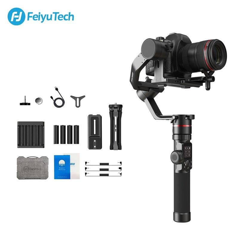 FeiyuTech AK2000 estabilizador de cámara DSLR cardán de mano con anillo de enfoque para Sony Canon 5D Panasonic GH5 Nikon 5D 2,8 kg carga útil